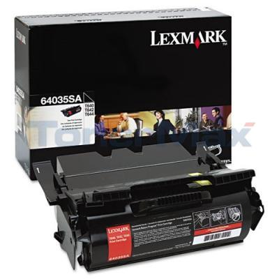 LEXMARK T644 PRINT CARTRIDGE BLACK 6K